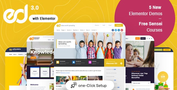 Download Nulled Ed School v3.5.0 - Education WordPress Theme