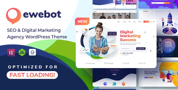 Download Nulled Ewebot v2.3.1 - SEO Digital Marketing Agency WordPress