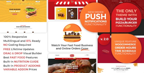 Download Nulled Lafka v2.4.1 - WooCommerce Theme for Burger Pizza Fast Food Delivery & Restaurant WordPress