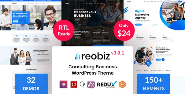 Download Nulled Reobiz v3.8.1 - Consulting Business WordPress Theme