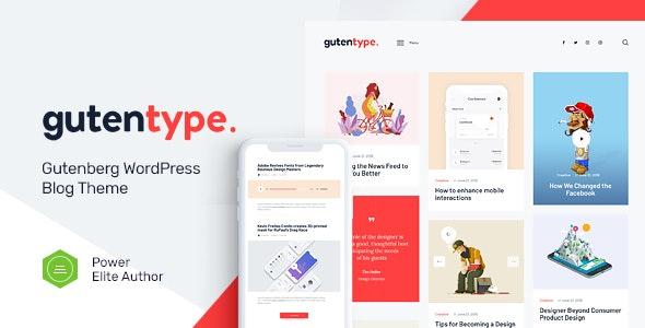 Download Nulled Gutentype v2.0 - 100% Gutenberg WordPress Theme