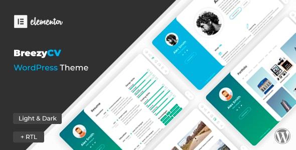 Download Nulled BreezyCV v1.5.1 - CV Resume WordPress Theme