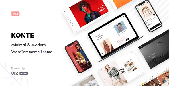 Download Nulled Konte v1.9.0 - Minimal & Modern WooCommerce Theme