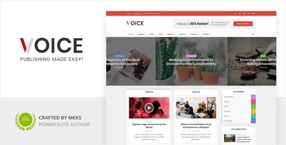 Download Nulled Voice v2.9.8 - Clean News Magazine WordPress Theme