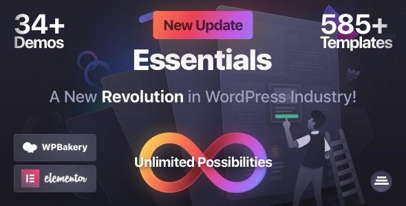 Download Nulled Essentials v1.2.9 - Multipurpose WordPress Theme
