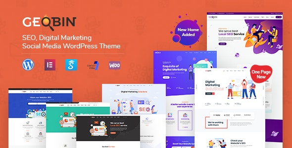 Download Nulled GeoBin v2.7.1 - Digital Marketing Agency, SEO WordPress Theme