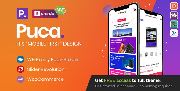 Download Nulled Puca v2.2.11 - Optimized Mobile WooCommerce Theme