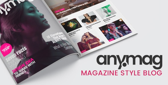 Download Nulled Anymag v2.1.2 - Magazine Style WordPress Blog