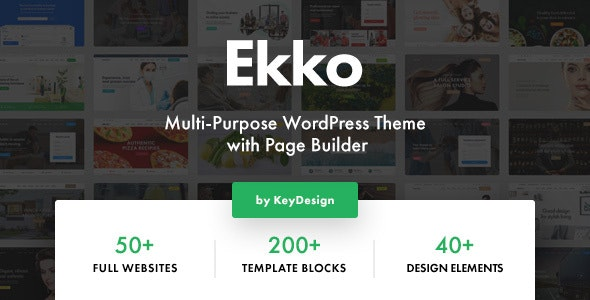 Download Nulled Ekko v2.6 - Multi-Purpose WordPress Theme with Page Builder