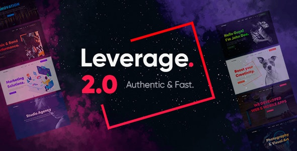 Download Nulled Leverage v2.0.7 - Creative Agency & Portfolio WordPress Theme