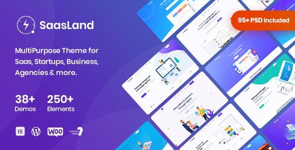 Download Nulled SaasLand v3.3.4 - MultiPurpose Theme for Saas & Startup WordPress