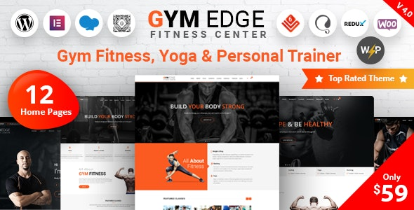 Download Nulled Gym Edge v4.2.2 - Gym Fitness WordPress Theme