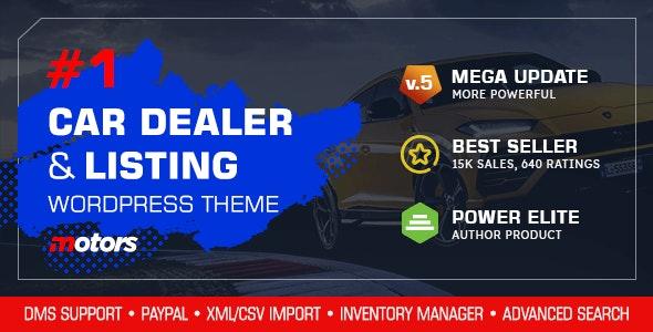 Download Nulled Motors v5.0 - Automotive, Cars, Vehicle, Boat Dealership WordPress Theme