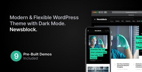 Download Nulled Newsblock v1.1.4 - News & Magazine WordPress Theme with Dark Mode