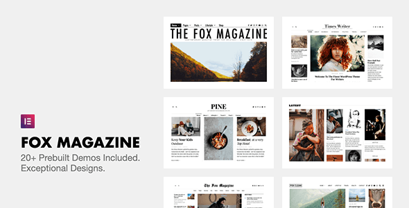 Download Nulled The Fox v4.6.7.1 - Minimal WordPress Blog Magazine Theme