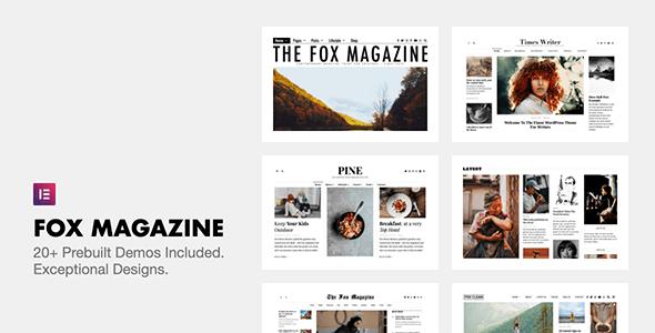Download Nulled The Fox v4.6.7.1 - Minimal WordPress Blog Magazine Theme