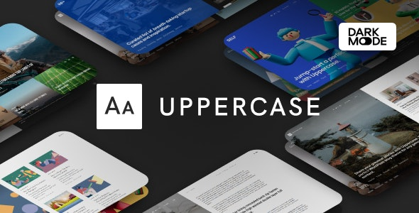 Download Nulled Uppercase v1.0.8 - WordPress Blog Theme with Dark Mode